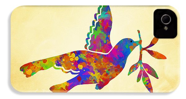 Dove With Olive Branch IPhone 4 / 4s Case by Christina Rollo