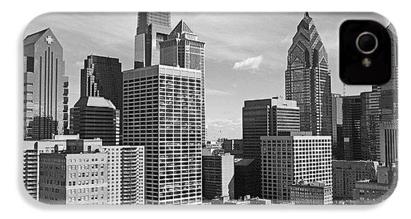 Downtown Philadelphia IPhone 4 / 4s Case by Rona Black