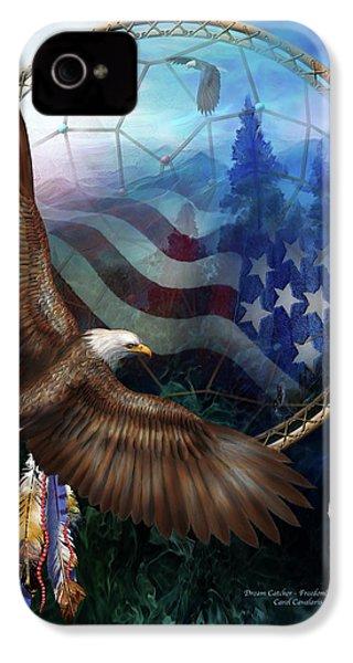 Dream Catcher - Freedom's Flight IPhone 4 / 4s Case by Carol Cavalaris