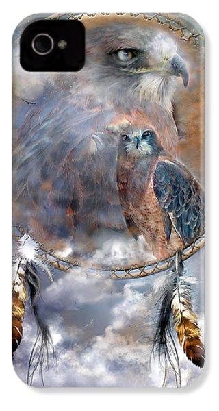 Dream Catcher - Hawk Spirit IPhone 4 / 4s Case by Carol Cavalaris