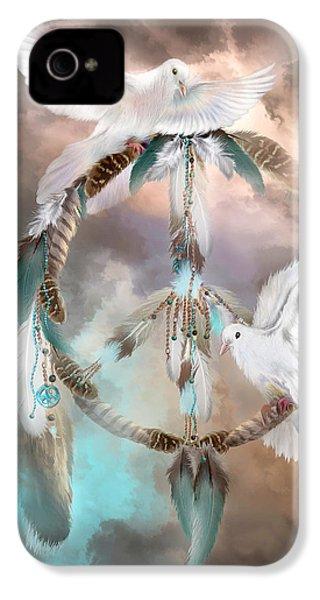 Dreams Of Peace IPhone 4 / 4s Case by Carol Cavalaris