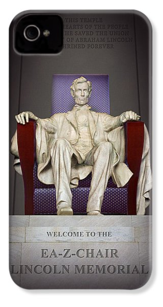 Ea-z-chair Lincoln Memorial 2 IPhone 4 / 4s Case by Mike McGlothlen