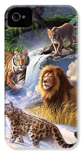 Earth Day 2013 Poster IPhone 4 / 4s Case by Jerry LoFaro