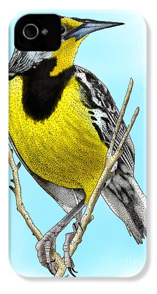 Eastern Meadowlark IPhone 4 / 4s Case by Roger Hall