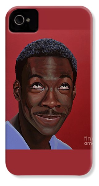 Eddie Murphy Painting IPhone 4 / 4s Case by Paul Meijering