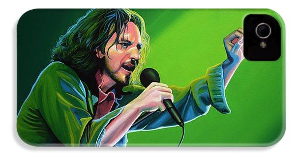 Eddie Vedder Of Pearl Jam IPhone 4 / 4s Case by Paul Meijering
