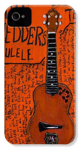Eddie Vedder Ukulele IPhone 4 / 4s Case by Karl Haglund