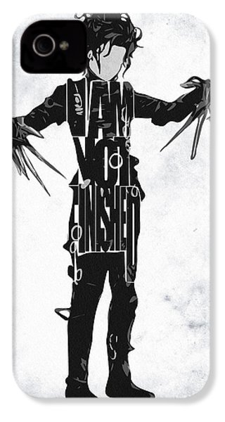 Edward Scissorhands - Johnny Depp IPhone 4 / 4s Case by Ayse Deniz