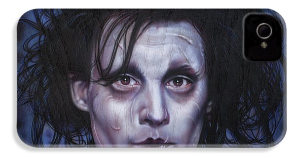 Edward Scissorhands IPhone 4 / 4s Case by Tim  Scoggins