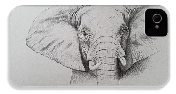 Elephant IPhone 4 / 4s Case by Ele Grafton