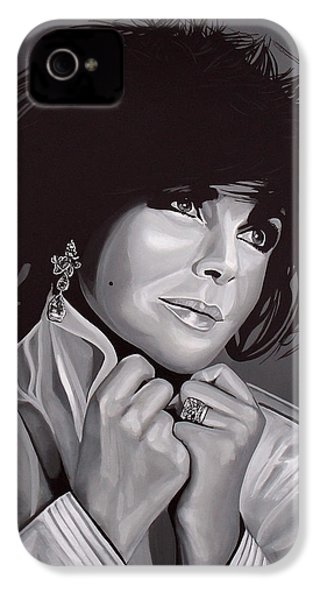 Elizabeth Taylor IPhone 4 / 4s Case by Paul Meijering