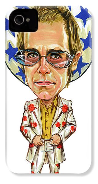 Elton John IPhone 4 / 4s Case by Art