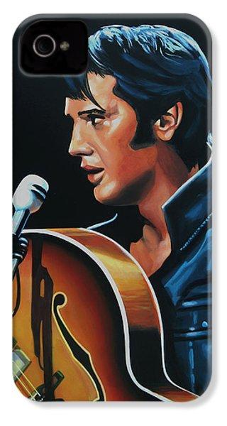 Elvis Presley 3 Painting IPhone 4 / 4s Case by Paul Meijering