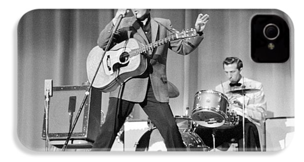 Elvis Presley And D.j. Fontana Performing In 1956 IPhone 4 / 4s Case by The Phillip Harrington Collection
