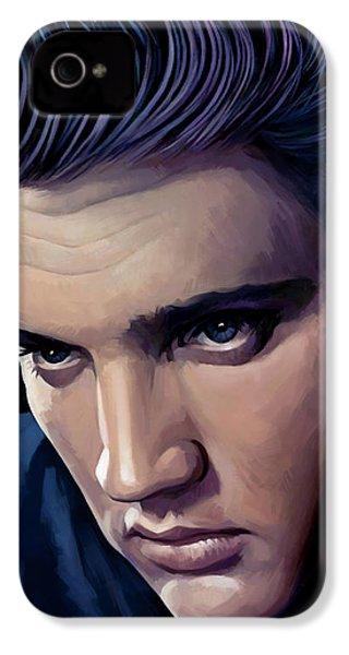 Elvis Presley Artwork 2 IPhone 4 / 4s Case by Sheraz A