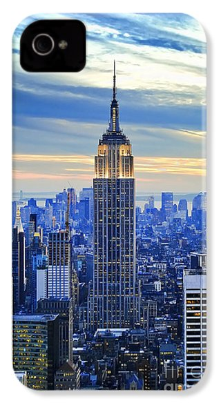 Empire State Building New York City Usa IPhone 4 / 4s Case by Sabine Jacobs