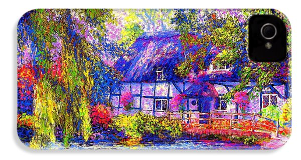 English Cottage IPhone 4 / 4s Case by Jane Small