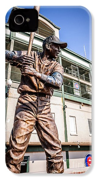 Ernie Banks Statue At Wrigley Field  IPhone 4 / 4s Case by Paul Velgos