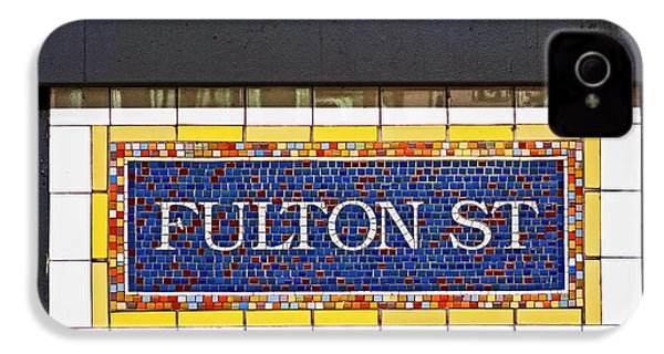 F Is For Fulton Street IPhone 4 / 4s Case by Rona Black