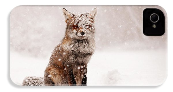Fairytale Fox _ Red Fox In A Snow Storm IPhone 4 / 4s Case by Roeselien Raimond