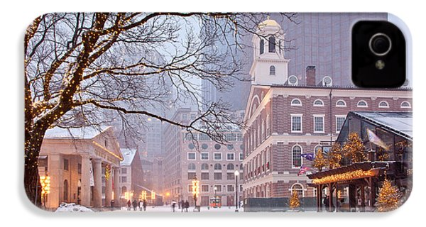 Faneuil Hall In Snow IPhone 4 / 4s Case by Susan Cole Kelly