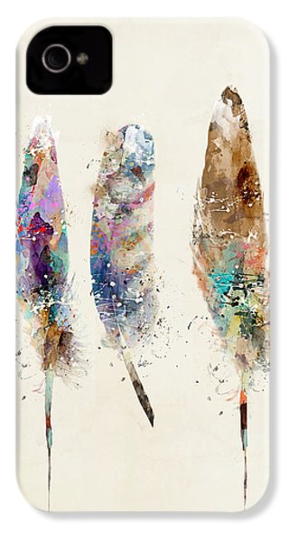 Feathers IPhone 4 / 4s Case by Bri B