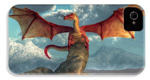 Fire Dragon IPhone 4 / 4s Case by Daniel Eskridge