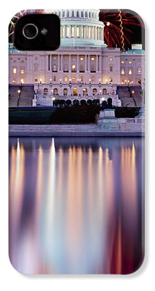 Firework Display Over A Government IPhone 4 / 4s Case by Panoramic Images