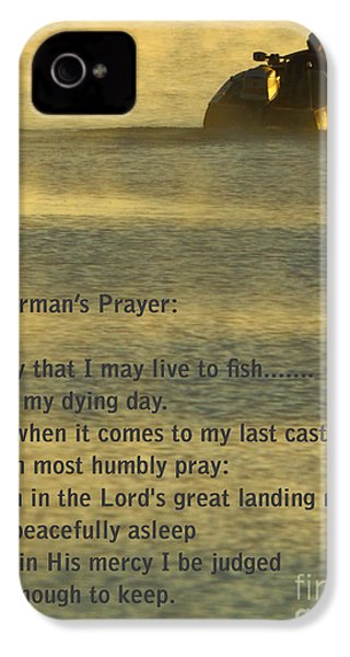 Fisherman's Prayer IPhone 4 / 4s Case by Robert Frederick