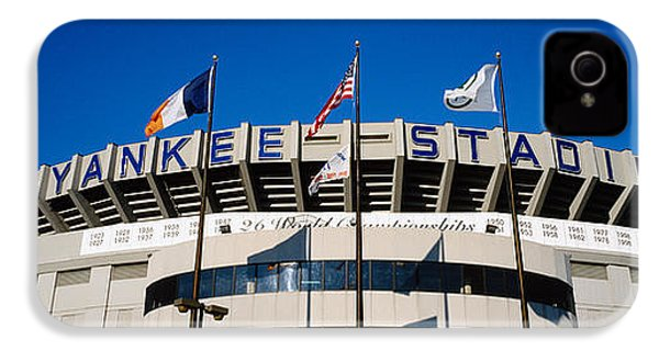 Flags In Front Of A Stadium, Yankee IPhone 4 / 4s Case by Panoramic Images