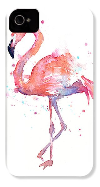 Flamingo Watercolor IPhone 4 / 4s Case by Olga Shvartsur