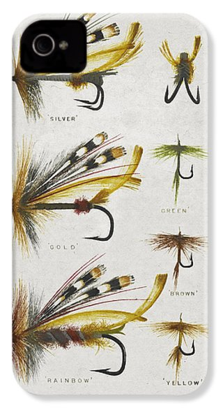 Fly Fishing Flies IPhone 4 / 4s Case by Aged Pixel