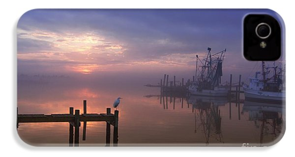 Foggy Sunset Over Swansboro IPhone 4 / 4s Case by Benanne Stiens