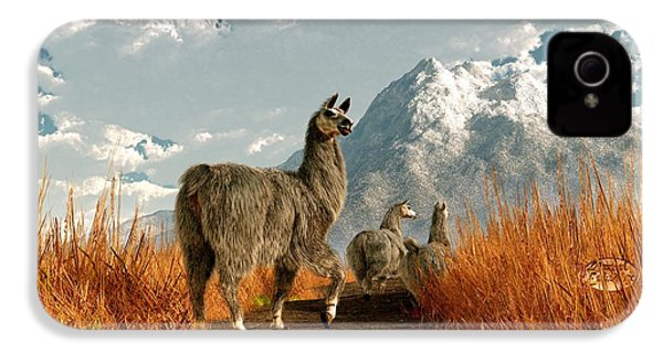 Follow The Llama IPhone 4 / 4s Case by Daniel Eskridge