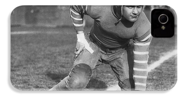 Football Fullback Player IPhone 4 / 4s Case by Underwood Archives