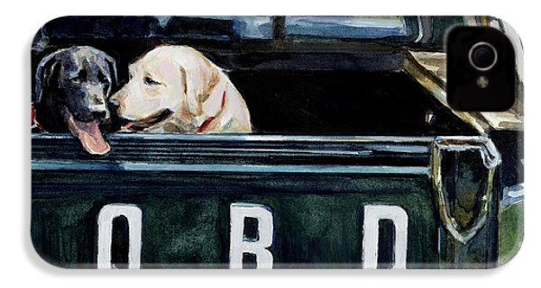 For Our Retriever Dogs IPhone 4 / 4s Case by Molly Poole