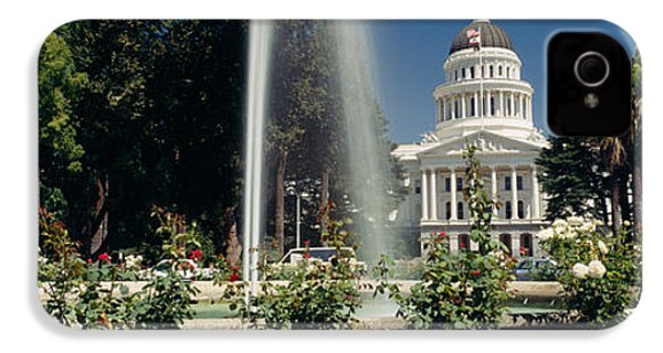 Fountain In A Garden In Front IPhone 4 / 4s Case by Panoramic Images