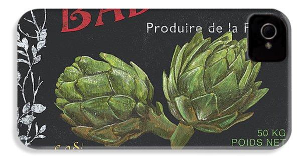 French Veggie Labels 1 IPhone 4 / 4s Case by Debbie DeWitt