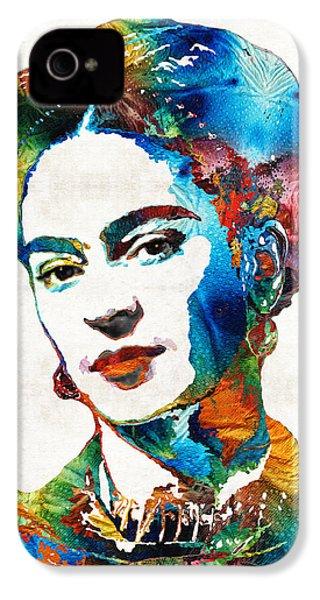 Frida Kahlo Art - Viva La Frida - By Sharon Cummings IPhone 4 / 4s Case by Sharon Cummings