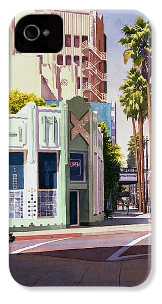 Gale Cafe On Wilshire Blvd Los Angeles IPhone 4 / 4s Case by Mary Helmreich