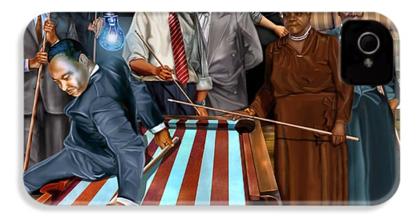 Game Changers And Table Runners P2 IPhone 4 / 4s Case by Reggie Duffie