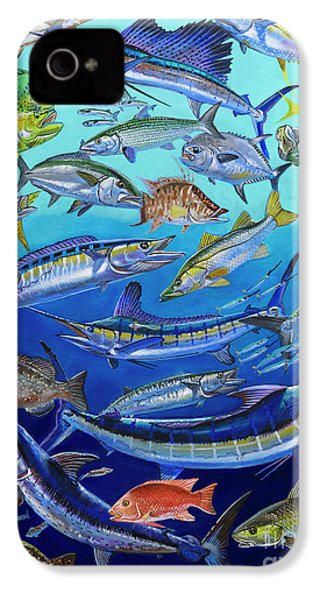 Gamefish Collage In0031 IPhone 4 / 4s Case by Carey Chen