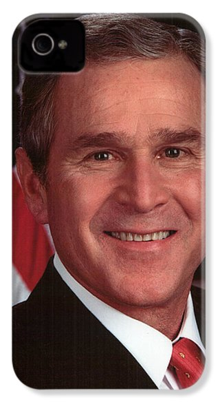 George W Bush IPhone 4 / 4s Case by Official Gov Files