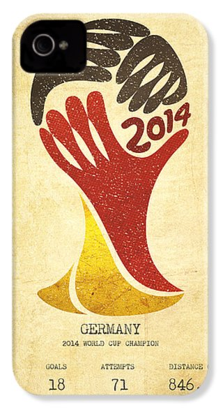 Germany World Cup Champion IPhone 4 / 4s Case by Aged Pixel
