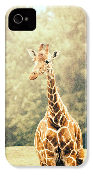 Giraffe In The Rain IPhone 4 / 4s Case by Pati Photography