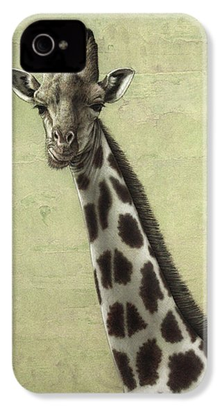 Giraffe IPhone 4 / 4s Case by James W Johnson