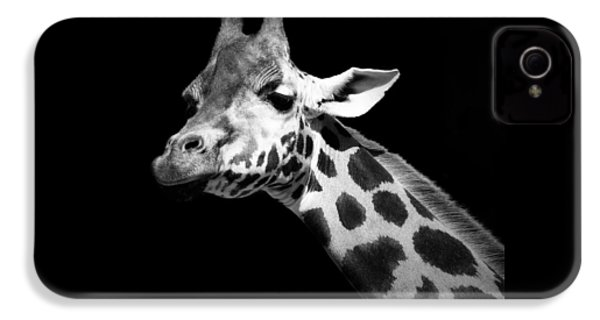 Portrait Of Giraffe In Black And White IPhone 4 / 4s Case by Lukas Holas