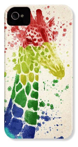 Giraffe Splash IPhone 4 / 4s Case by Aged Pixel