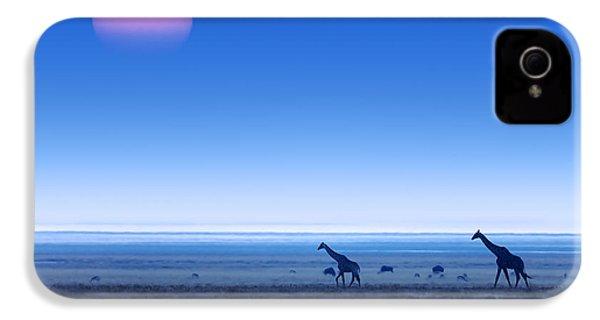 Giraffes On Salt Pans Of Etosha IPhone 4 / 4s Case by Johan Swanepoel