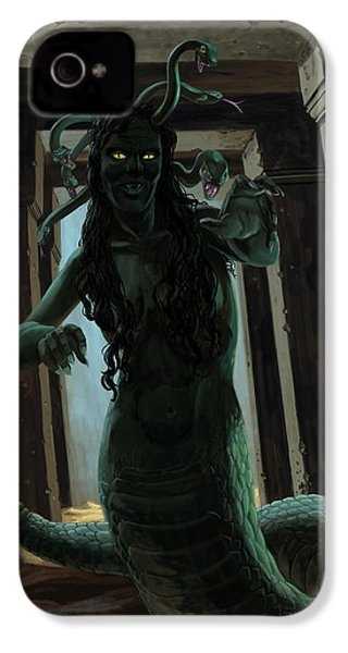 Gorgon Medusa IPhone 4 / 4s Case by Martin Davey